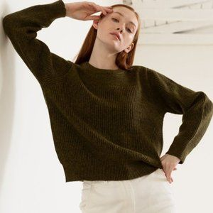 modern citizen dark olive ryan crew neck sweater M
